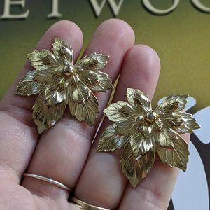 Vintage 1950's Golden Maple designer earrings